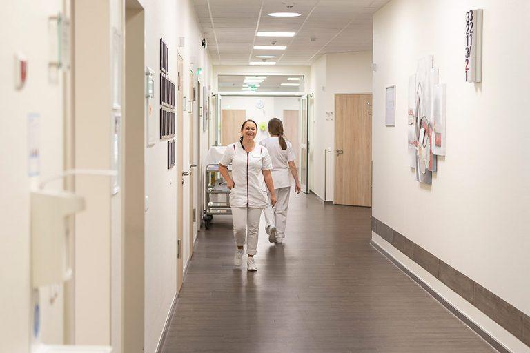 Krankenschwester flur